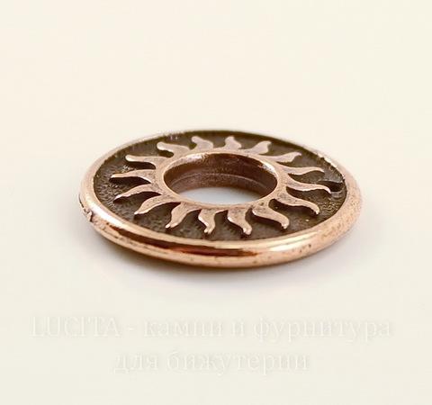 """Подвеска TierraCast """"Солнце"""" (цвет-античная медь) 19 мм"""