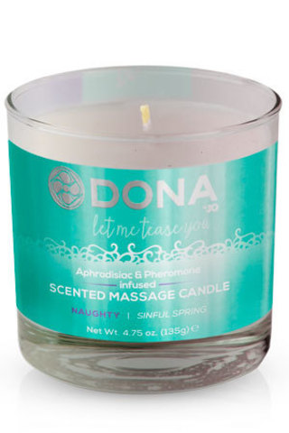 Массажная свеча - DONA Scented Massage Candle Naughty Aroma: Sinful Spring 135 г