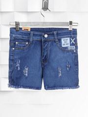 Q-8036 шорты женские, синие