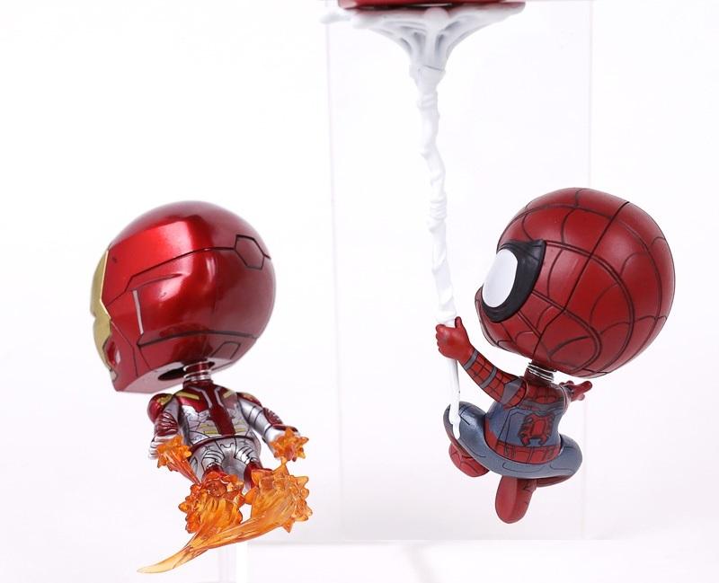 Человек паук Возвращение домой фигурки Железный человек и Человек паук Cosbaby