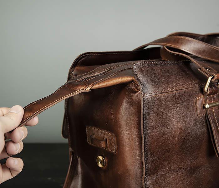 BAG468-2 Мужская сумка саквояж из натуральной кожи фото 07