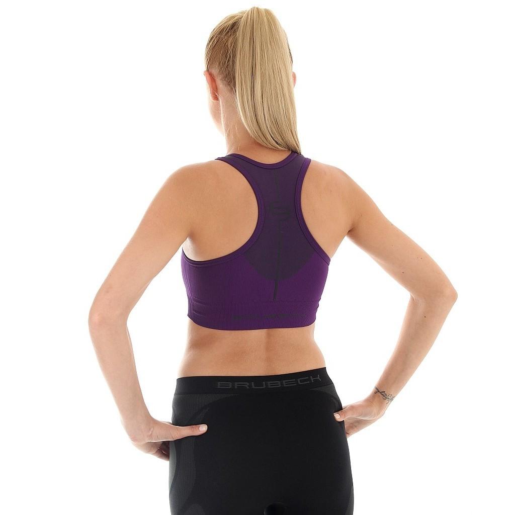 Женский спортивный топ для бега Brubeck Thermo (CR10070) фиолетовый