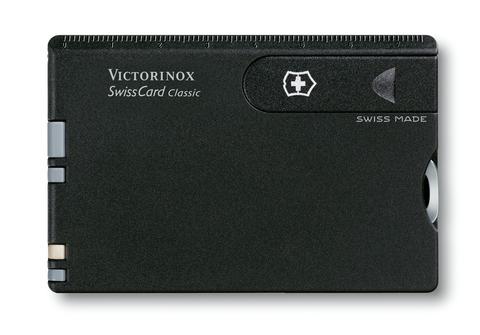 Швейцарская карточка Victorinox SwissCard, черная матовая