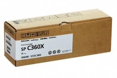 Принт-картридж Ricoh SP C360E, черный. Ресурс 2500 стр. (408188)