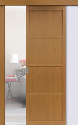 Перегородка межкомнатная Optima Porte 104.1111, цвет орех классический, глухая (за 1 кв.м)