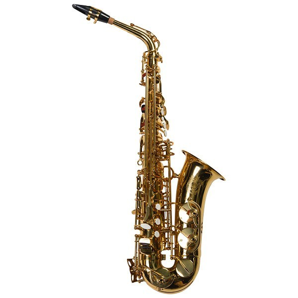 SUZUKI MCSA-1 саксофон альт Eb ученический, отделка золотой лак, с кейсом, мундштуком, ремнем, тростью и средствами ухода