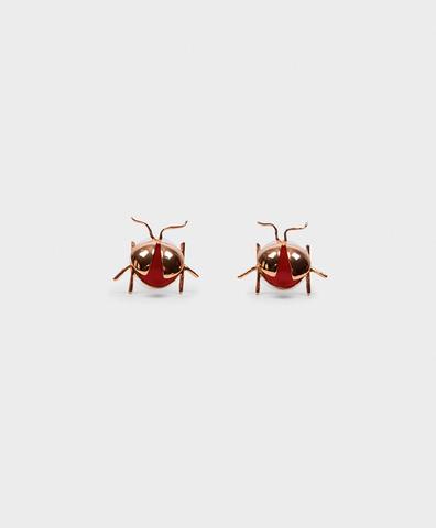 Серьги Ladybug Red