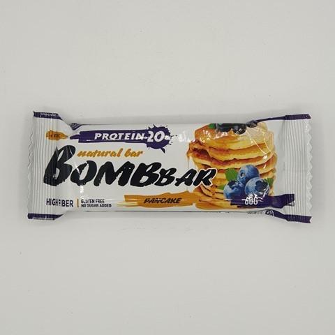 Батончик Natural Bar вкус Смородиново-Черничный панкейк BOMBBAR, 60 гр