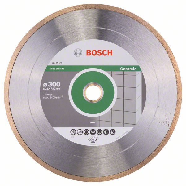 Алмазный диск Standart for Ceramic 300-30/25,4 Bosch 2608602540