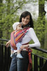 Слинг-шарф тканный  Lanny Lamb Sunset Rainbow _ Радуга на закате с бамбуком