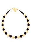 Ожерелье Domino золотое матовое