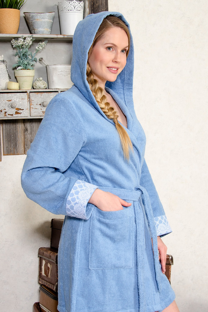 Короткий махровый халат Twin-Set