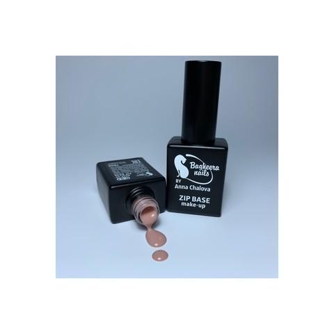 Bagheera Nails B-9.4 MAKE-UP ZIP BASE, База для гель-лака, каучуковая, светло-телесный оттенок 10 мл