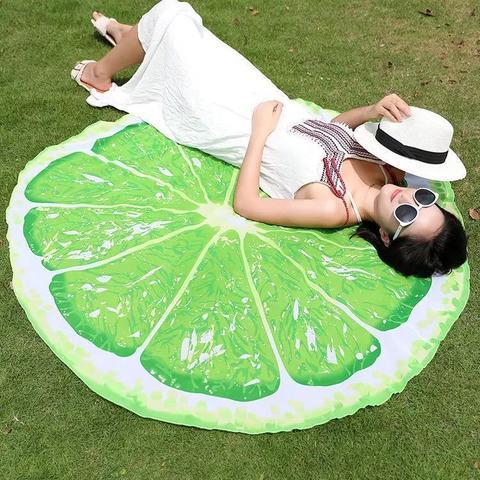 Пляжное полотенце-покрывало Лайм