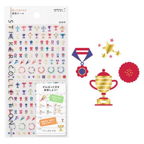 Стикеры для планировщиков Midori Sticker Collection - tassei hyosho-gara