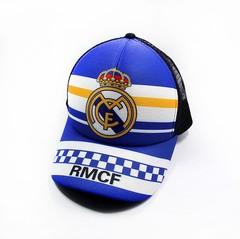 Кепка с логотипом Реал Мадрид (Бейсболка Real Madrid) светло-синяя