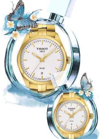 Купить Парные часы TISSOT PR 100: T101.410.33.031.00 и T101.210.33.031.00 по доступной цене