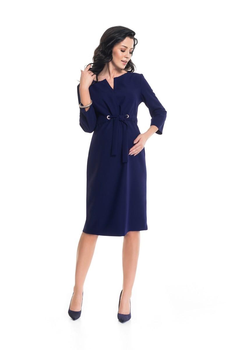 Платье для беременных 09056 темно-синий