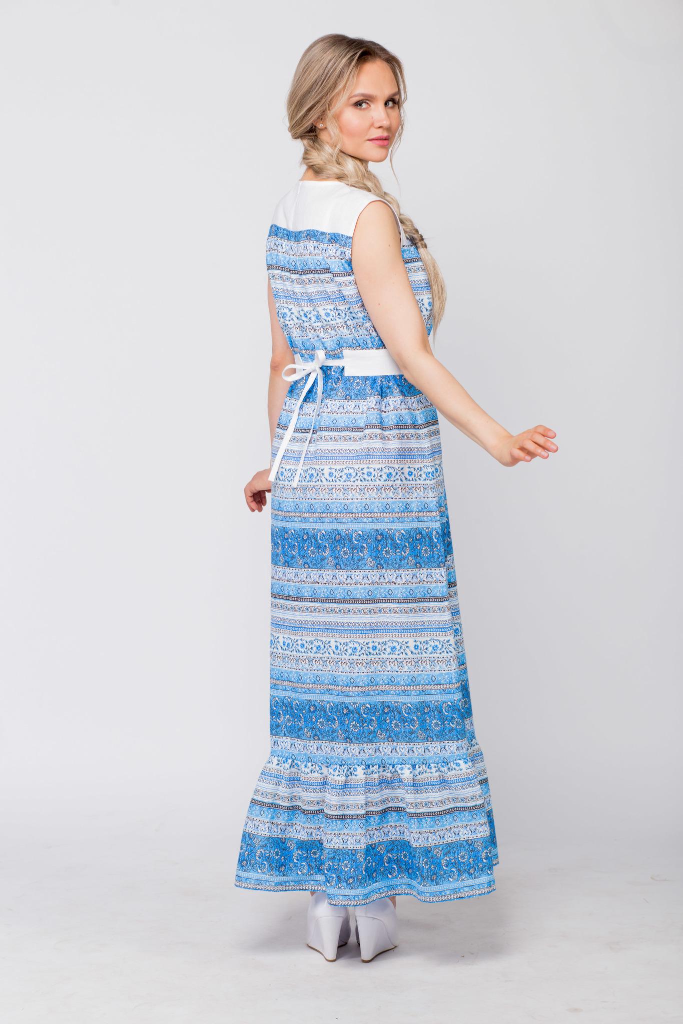 Платье льняное Утренняя роса с поясом купить