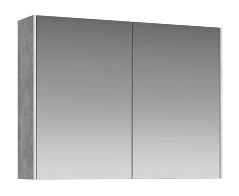 Зеркальный шкаф Mobi 80 бетон светлый