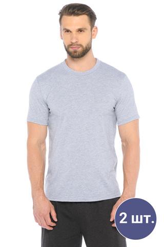 Две мужских футболки цвета меланж