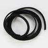 Шнур замшевый (искусств), 6х1,5 мм, цвет - черный, примерно 1 м
