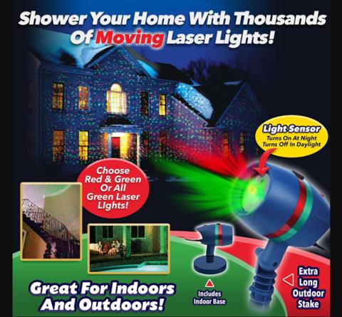 Лазерный звездный проектор  Star Shower Mothion с регулировкой режимов.
