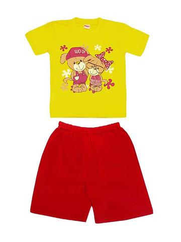 DL11-73-5-24 Комплект детский, желтый (футболка+шорты)
