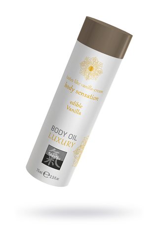 Съедобное масло для тела - Ваниль, 75мл. фото