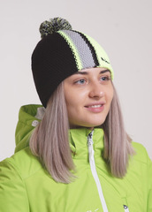 Шапка Nordski Knit color Black-Grey-Yellow