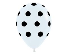 Воздушный шар «Цветной Горох» (Белый)