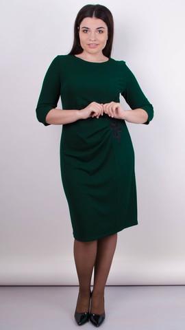 Тейлор. Женское платье плюс сайз. Тёмно-зеленый.
