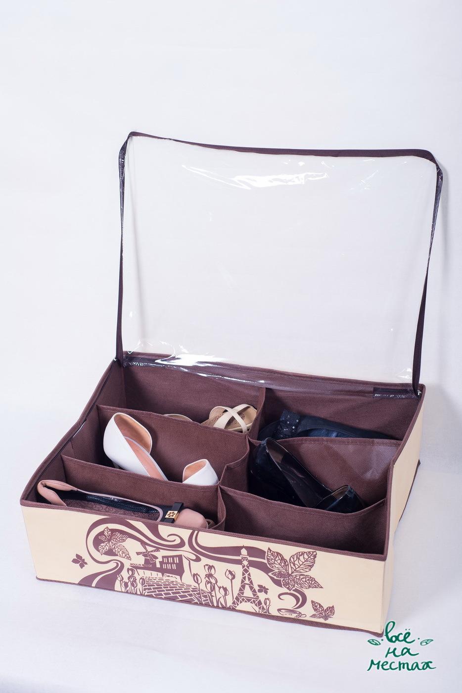 Кофр для обуви на 6 пар, Париж