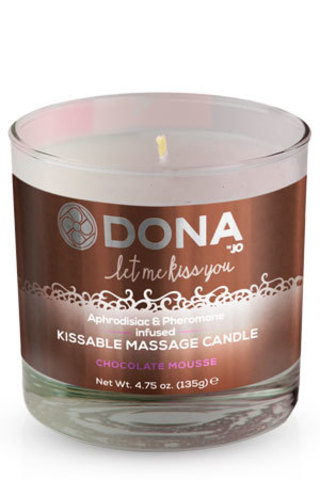 DONA Kissable Massage Candle Chocolate Mousse 135 г (съедобная)