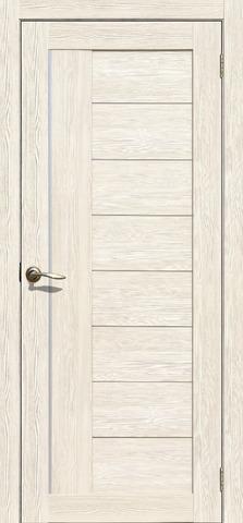 Дверь La Stella 201, цвет ясень снежный, остекленная