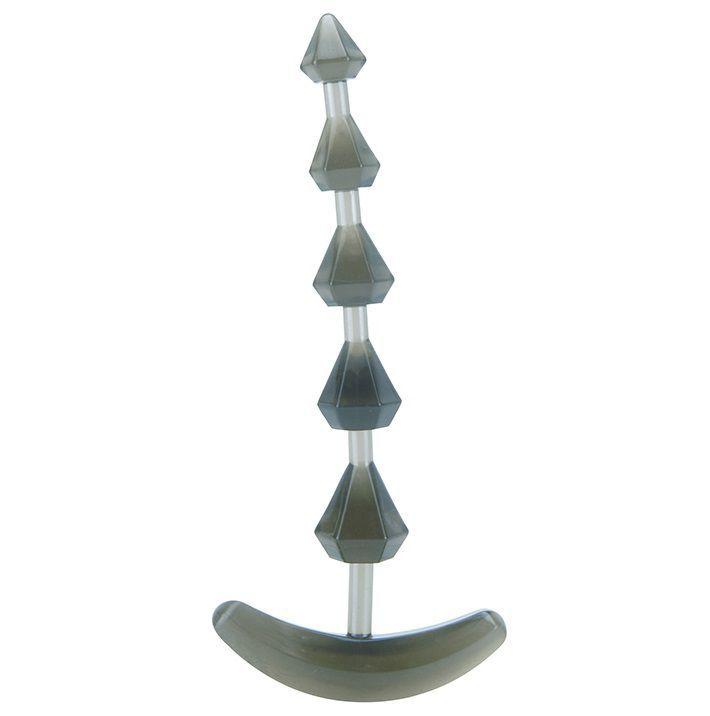 Анальные шарики, цепочки: Дымчатая анальная цепочка PLIABLE PROBE - 15 см.