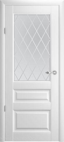 > Экошпон Фрегат Эрмитаж-2, стекло ромб, цвет белый, остекленная