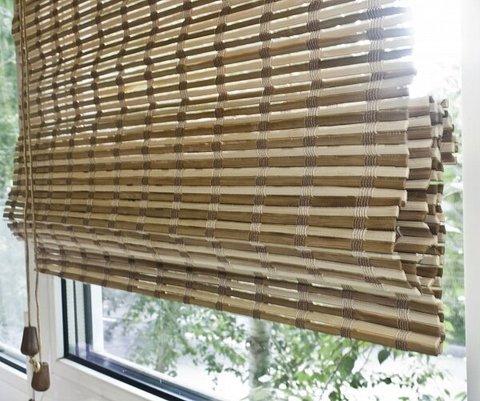 Бамбуковая римская штора Уна микс