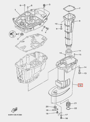 Корпус дейдвуда для лодочного мотора F20 Sea-PRO (21-12)