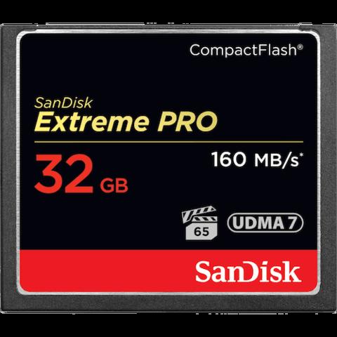 Карта памяти SanDisk CF Extreme Pro 32 Gb 160 Mb/s