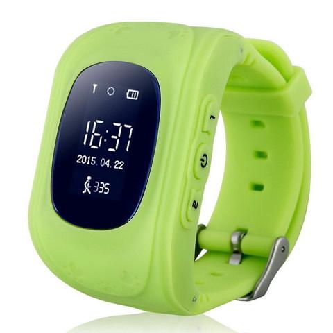 Детские часы с GPS трекером Smart Baby Watch Q50 (Зеленый)