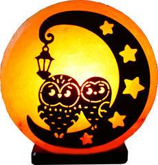 Солевая лампа Совы на луне 2-3кг