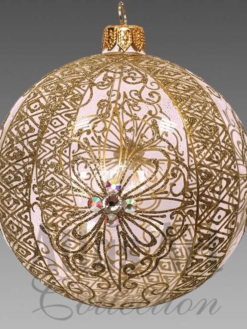 Золотая филигрань - шар 110 мм