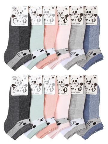 E237 носки женские 37-41 (12шт), цветные