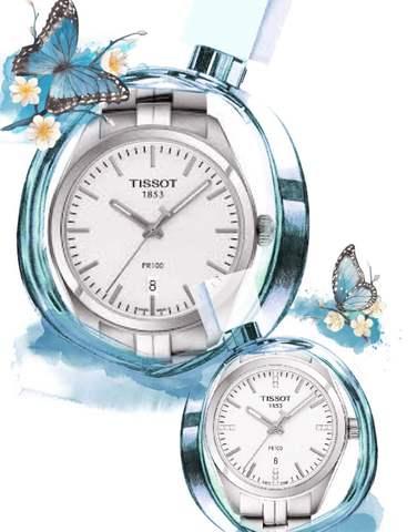 Купить Парные часы TISSOT PR 100: T101.410.11.031.00 и T101.210.11.036.00 по доступной цене