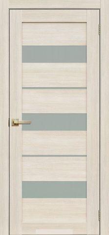 Дверь La Stella 200, стекло матовое, цвет ясень снежный, остекленная