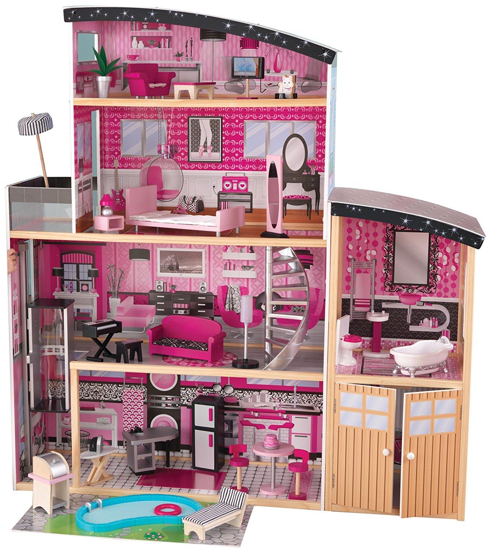 KidKraft Сияние Sparkle Mansion Dollhouse - большой кукольный дом