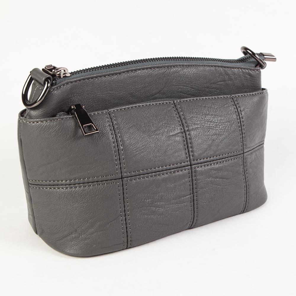 1281ca3dbd9d Маленький стильный женский повседневный клатч сумочка серого цвета из  экокожи Dublecity DC806-2 Grey