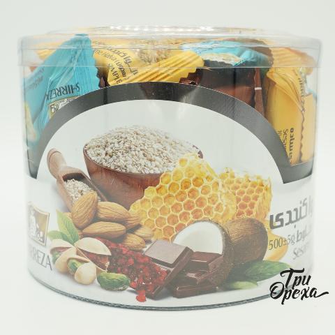Шоколадные конфеты с халвой и кунжутом Shirreza, 500 гр