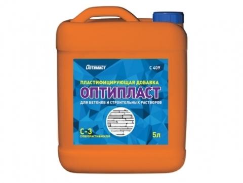 Оптимист ОПТИПЛАСТ пластифицирующая добавка для бетонов и строительных растворов суперпластификатор С-3 C409